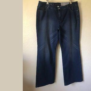 NWT JENNIFER LOPEZ Bootcut Stretch Jeans 16W 38x30